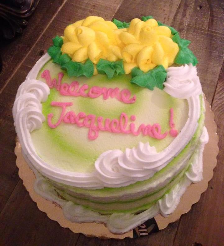 Meu bolo de boas vindas =)