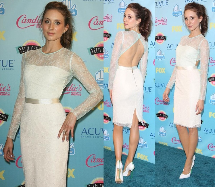 2013 Teen Choice Awards Press Room held at the Gibson Amphitheatre Featuring: Troian Bellisario Where: Los Angeles, CA, United States When: 11 Aug 2013 Credit: Adriana M. Barraza/WENN.com